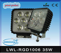 35W Epistar super bright led work lamp waterproof IP68 RGD1006 isuzu npr headlight