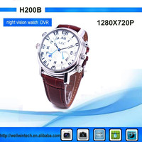 Factory Fashion Voice Recordable Watches camera, fashion Wrist Watch Camera 720P