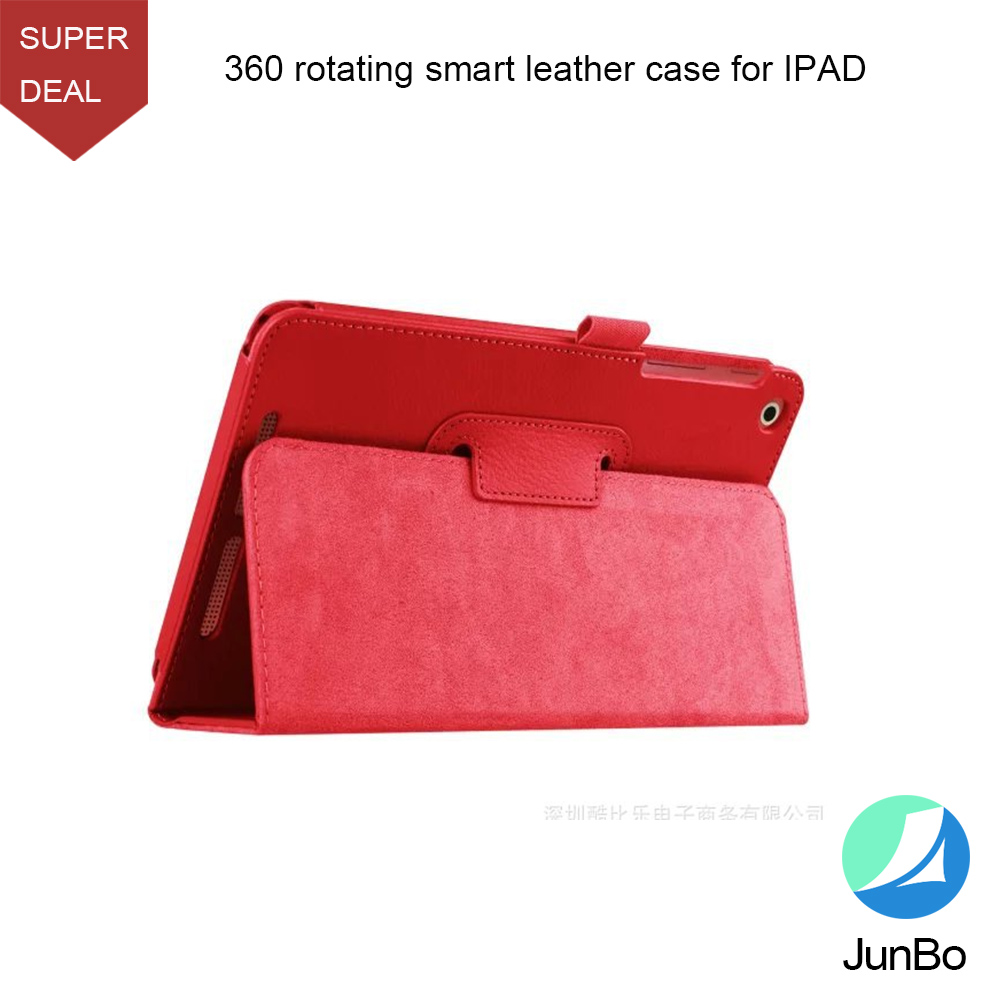 Wholesale produuct 360 rotating stand pu leather case for ipad 2 3 4