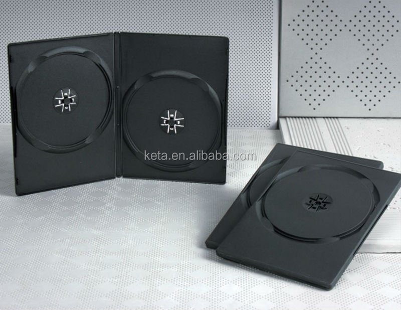 High Quality 9mm Double Black Long DVD Case Plastic DVD Box