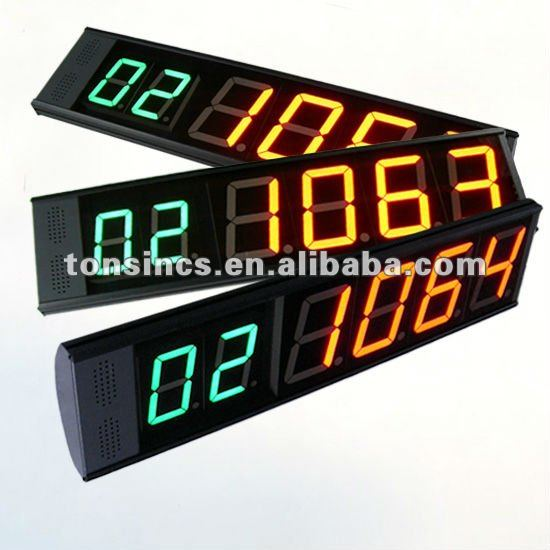 "Wireless 3""/4"" 2 Color 7 Segment High Bright Tuber LED Digital Counter Display"