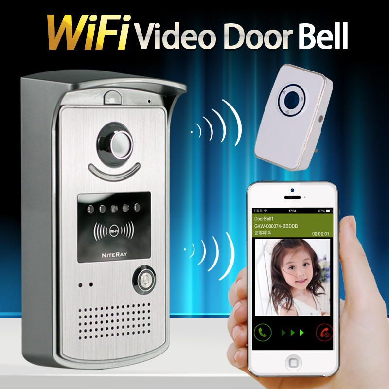 IP55 Waterproof Wireless Wifi IP Doorbell Camera + Indoor Bell Video Door Phone Intercom