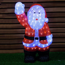 outdoor decorations 3D led santa claus figure