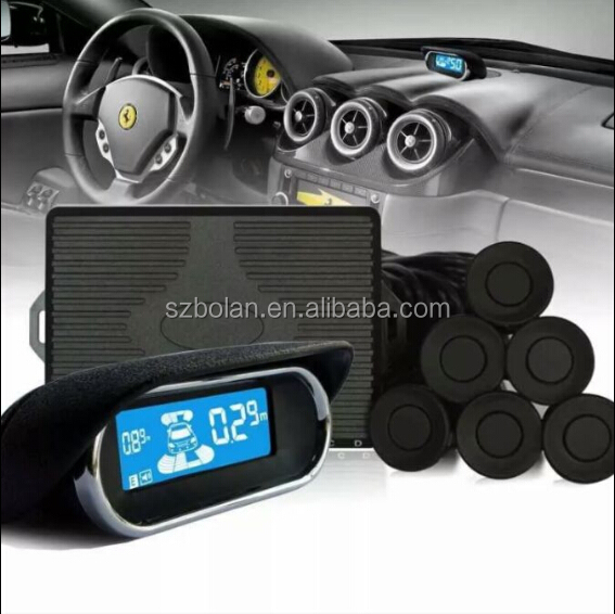 Car LCD Parking Sensors Smart Reversing Aid System with Front and Rear Sensors