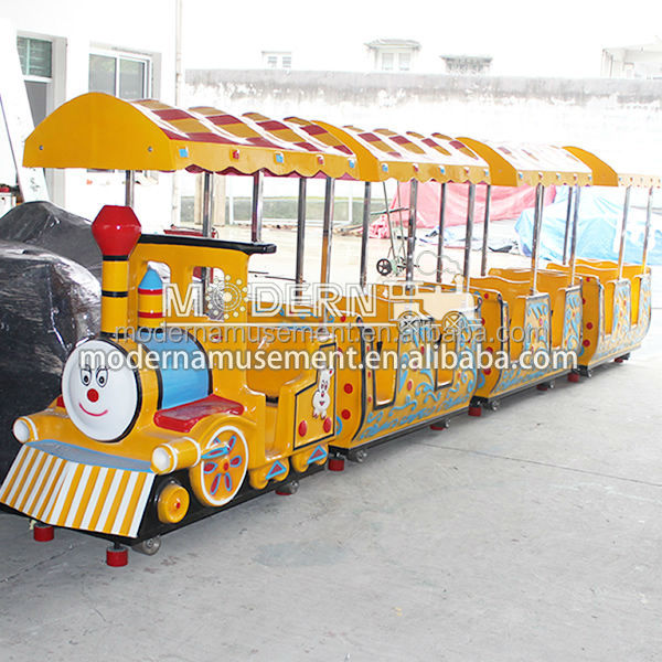 Wholesale center amusement theme park rides mini tourist trackless train ride for kids