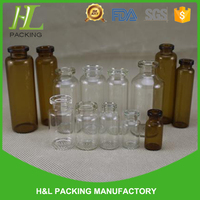 best seller clear amber glass 15ml glutathione vial with rubber cap