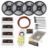 20M Mi Light Dimmable Led Strip fita IP65 TIRA RGBW RGB 5050 Tape DC 12V +4pcs Controller +RF Remote + AC220V Power Driver 1set