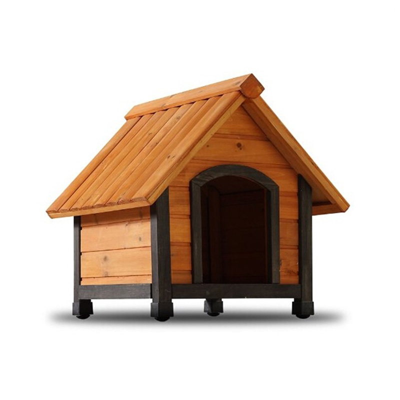 Factory Direct Sale Cheap Dog Cage Wooden Dog House with Dark Frame