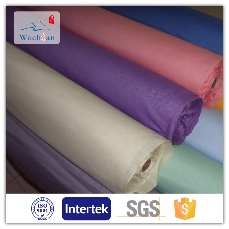Low price high quality fabric 210t polyester coated taffeta used for garment pocket bag
