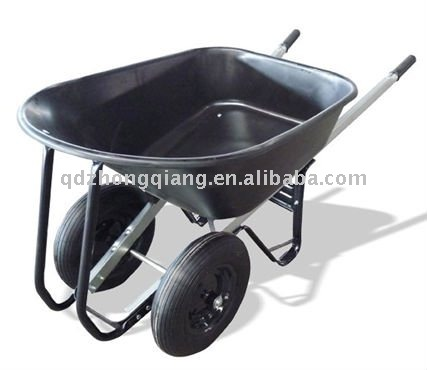 Twin Wheels Poly Tub Wheelbarrow-WB7800w
