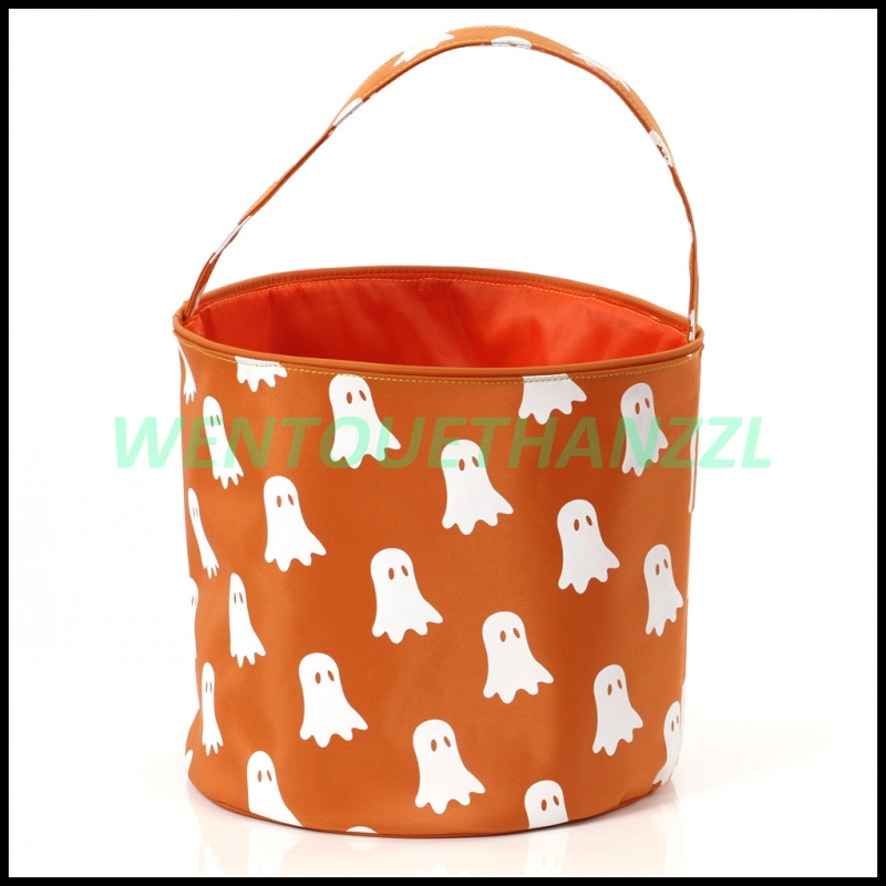 Lower Price 600D Polyester Gift Lighted Halloween Bucket
