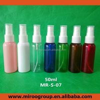 50ml recycling perfume fill plastic clear spray amber pet bottle