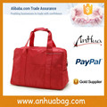 Red Polyester ladies travel bags