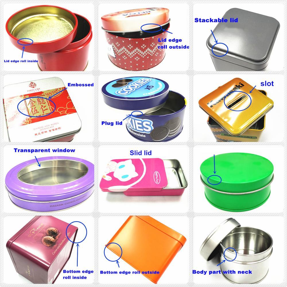 Customized hot sale cosmetic tin can