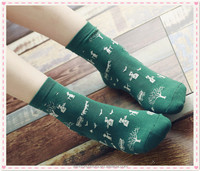 China stockings hosiery sweet and lovely lady cotton socks for autumn winter