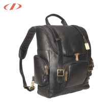 Genuine leather Additional water bottles bag polo laptop bag laptop backpack bag