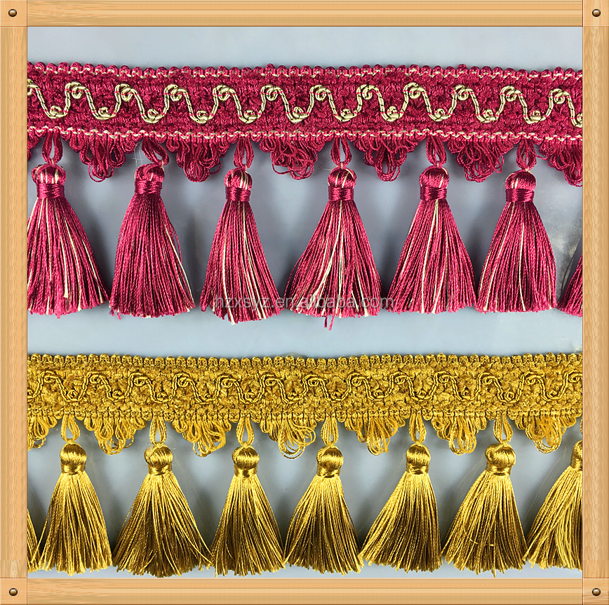 2018 Factory wholesale High quality Europe Fashion Curtain Tassel Fringe