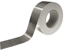 UL Listed Black Aluminum Foil Tape Aluminum Heat Tape For Duct Work