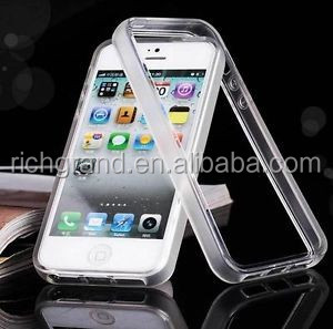 Rubber soft silicone Gel skin clear matte bumper TPU case for iphone 5 5s