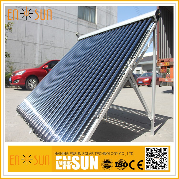 installed heat pipe solar collector system
