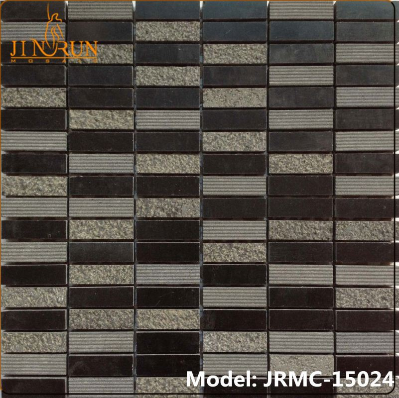 Mediterranean style ceramic mosaic tile mix resin interior wall HG-8k229 drawing room