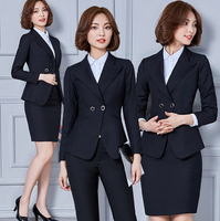 Custom Nice Design Fashion manufacturing sample female office uniform/black woman skirt suits