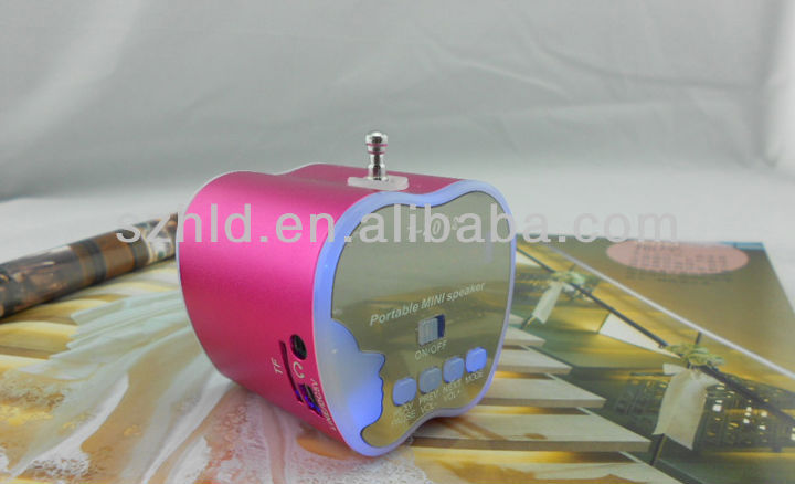 Fashionable colorful portable multimedia mini speaker