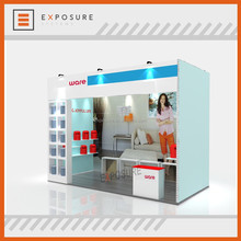 2017 Modern/Customized indoor exhibition booth pvc panel