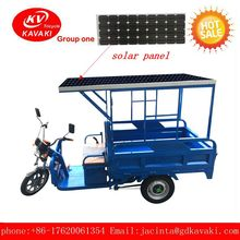 China Supplier Factory Wholesale custom Cargo Tricycle with solar panel