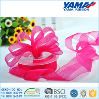 Hot sale solid color nylon fabric organza ribbon roll
