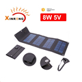 8W 5V 2.1A External Usb High Efficiency Solar Power Panel Charger Portable Bag Charger Phones