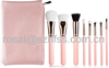 Wholesale Best Quality Pink color Makeup brushes 8 PCS Beauty Cosmetics Powder Foundation Blending Blush Make up Brush Set
