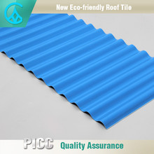 Roofing building material heat insulation anti-corrosion upvc plastic roof tile