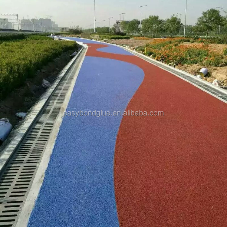 Coloured slurry seal for road pavement making