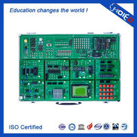 Modular Microcontroller Experiment Box, Educational Electronic Teaching Kit, Didactic Training Equipment, School Lab Trainer