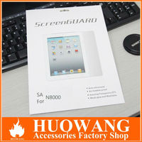 clear and anti-glare for samsung note 10.1 n8000 screen protector with retail package and cloth
