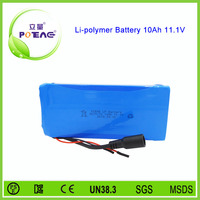 Li-polymer type 8570170 10Ah 12V lithium ion rc toy battery