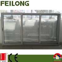 Commercial FL150 Aluminum Frame Sliding Glass Window With AS2047 in Australia & NZ