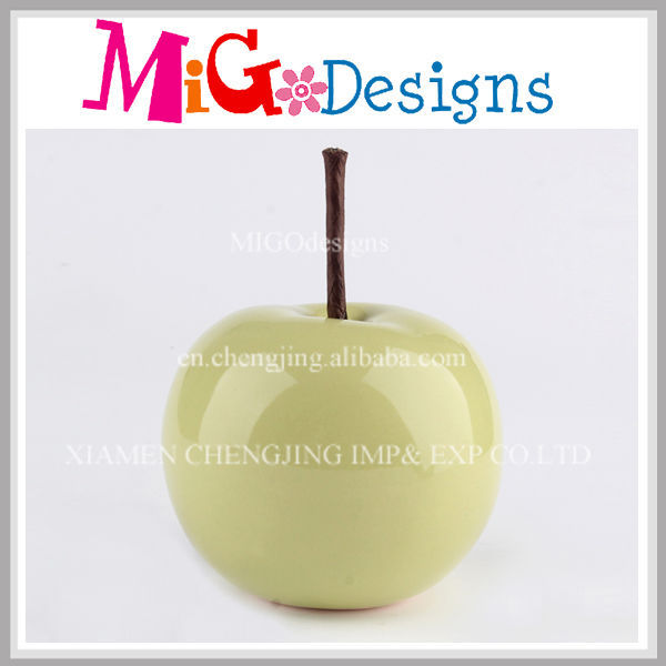 Green Apple Figurine Decor Ceramics Modern Craft OEM
