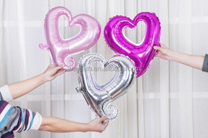 wedding decoration-- 18 inch Hollow Heart Balloons Helium Foil Balloons For Birthday/PartyWedding/Engagement Decoration helium l