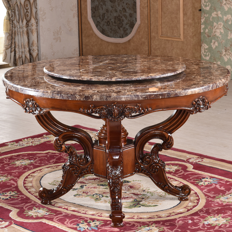 Factory manufactured artificial stone round marble slab dining table top