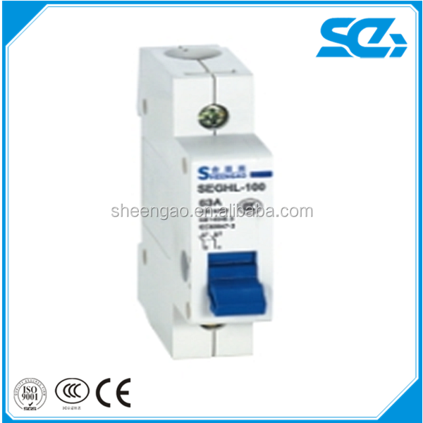 manufacturer price high quality 32A 63A 100A 230/400V 1P to 4P Mini Isolator switch