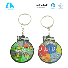 Rubber different shape custom keychain for decoration