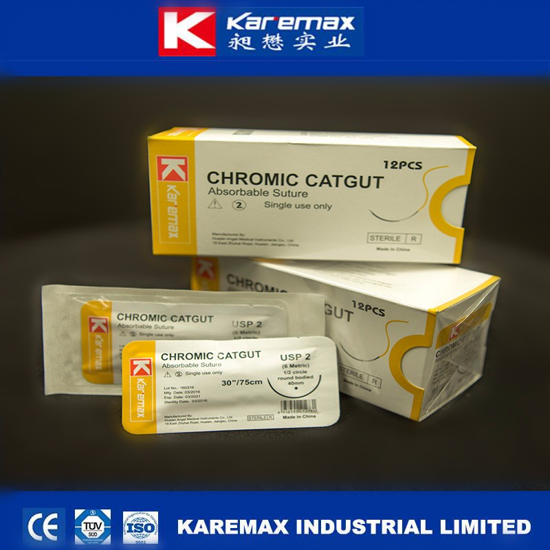 2017 Hot Vinyl Chromic Catgut Absorbable Sutures with High Quality