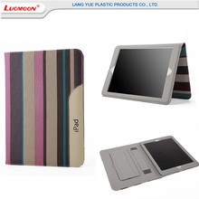 2017 New Arrival Stripe Leather Flip Cases for Apple iPad 1/2/3 Wallet Flip Smart Cover Case For iPad 2 3 4