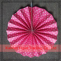 Pink Polka Dots Wedding party favors Paper Medallion Fan Backdrops