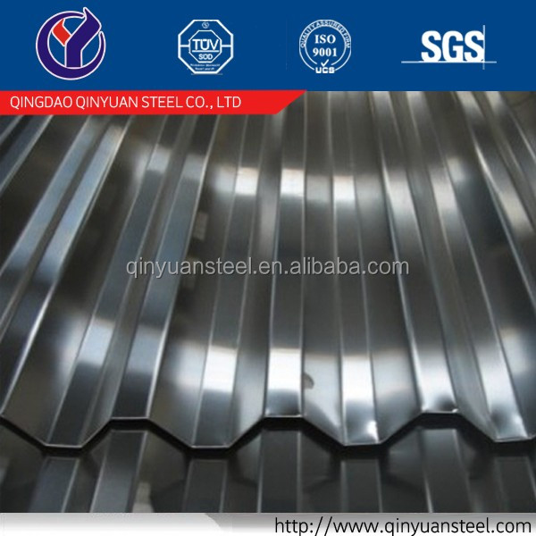 long span color coated corrugated roofing sheet, 20 Gauge Thickness Galvanized Corrugated Steel Sheet