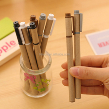 Wholesale novelty design recycle kraft paper Roller ball pens