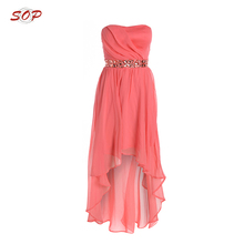 Flower party irregular clothes women chiffon wedding dress