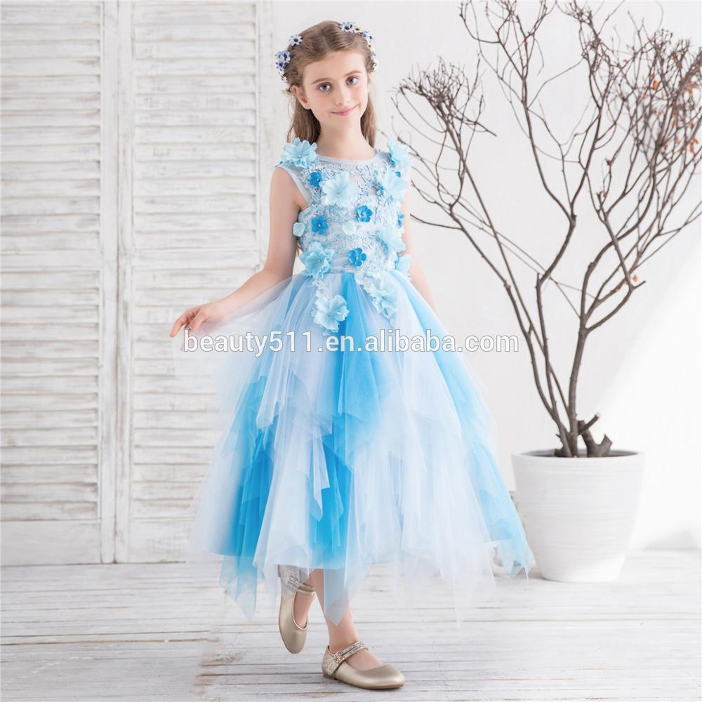2018 New First Communion Dresses O-Neck Appliques Sleeveless Ball Gown RemovableTrain Flower Girl Dresses for Weddings Vestido